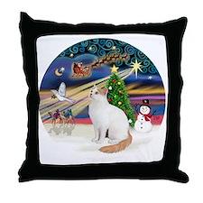 XMagic - Turkish Van cat Throw Pillow