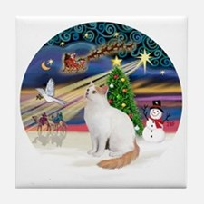 XMagic - Turkish Van cat Tile Coaster