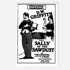 W C Fields SALLY SAWDUST Postcards (Package of 8)