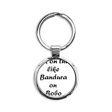 Bandura on Bobo Round Keychain