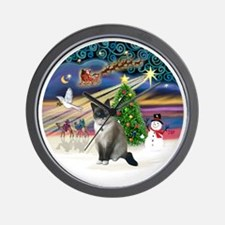 XMagic-SnowShoeCat1 Wall Clock
