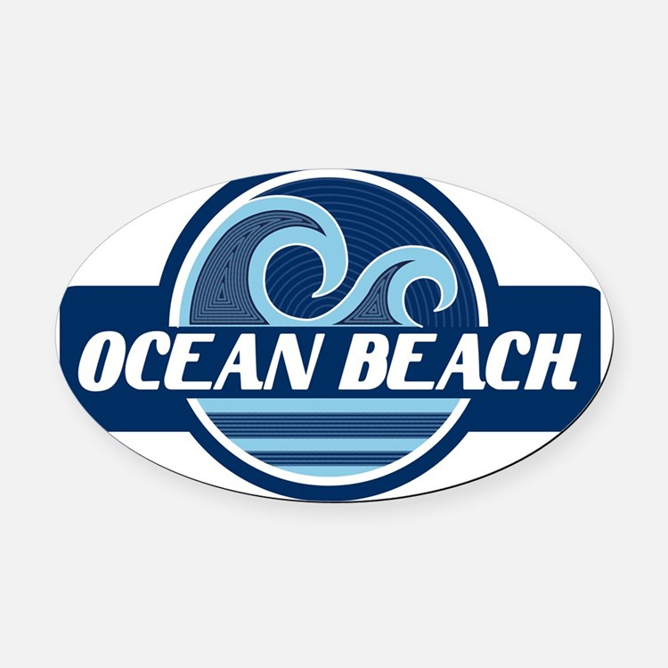 Ocean Beach Surfer Pride Oval Car Magnet