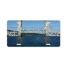 Portage Lake Lift Bridge Aluminum License Plate