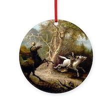 John Quidor Headless Horseman Round Ornament