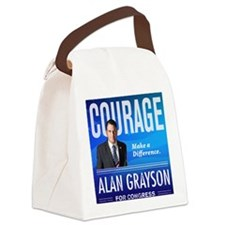 Courage: Alan Grayson Canvas Lunch Bag