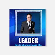 """Leader: Alan Grayson Square Sticker 3"""" x 3"""""""