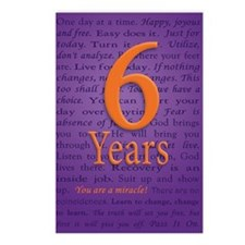 6 Year Recovery Birthday  Postcards (Package of 8)