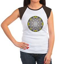 Bobcat Mandala Women's Cap Sleeve T-Shirt