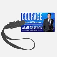 Courage: Alan Grayson Luggage Tag