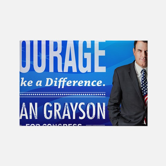 Courage: Alan Grayson Rectangle Magnet