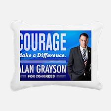 Courage: Alan Grayson Rectangular Canvas Pillow