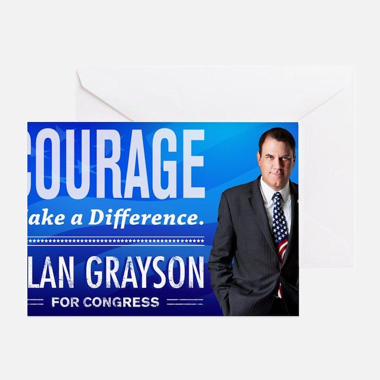 Courage: Alan Grayson Greeting Card