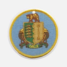 uss dale patch transparent Round Ornament
