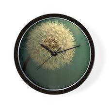 Teal Dandelion Wall Clock