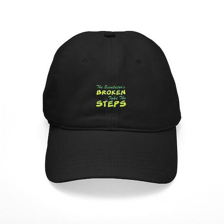 Broken Escalator Use The Steps Black Cap