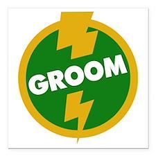 "Groom Wedding - Dupree Square Car Magnet 3"" x 3"""