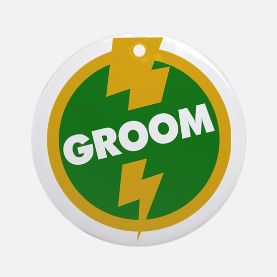 Groom Wedding - Dupree Round Ornament