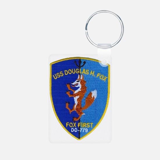 uss douglas h fox patch tr Keychains