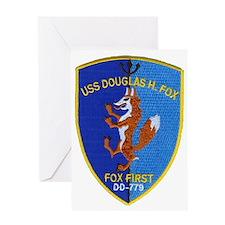 uss douglas h fox patch transparent Greeting Card