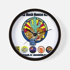 Phoenix Hash House Harriers Logos all Wall Clock