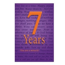 7 Year Recovery Birthday  Postcards (Package of 8)