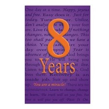 8 Year Recovery Birthday  Postcards (Package of 8)