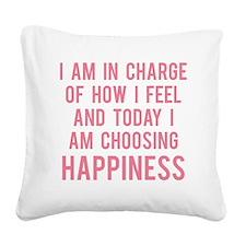 todayHappy1E Square Canvas Pillow
