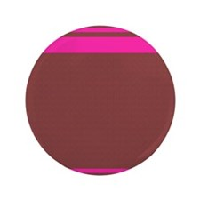 """Brown and Pink Stripes 3.5"""" Button"""