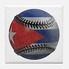 Cuban Baseball Tile Coaster
