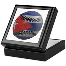 Cuban Baseball Keepsake Box