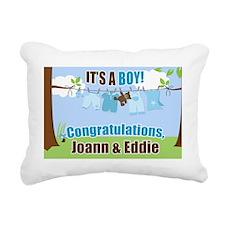 Its a Boy Congratulation Rectangular Canvas Pillow