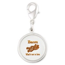 Bacon to Love Silver Round Charm