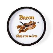 Bacon to Love Wall Clock