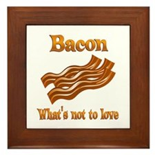 Bacon to Love Framed Tile