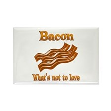 Bacon to Love Rectangle Magnet