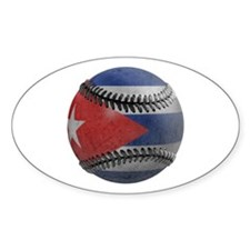 Cuban Baseball Oval Decal