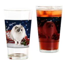 Ragdoll Cat Ornament Drinking Glass