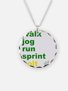 Walk. Jog. Run. Sprint. Bolt Necklace