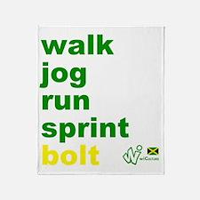 Walk. Jog. Run. Sprint. Bolt. Throw Blanket