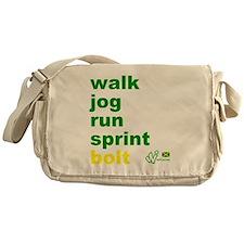 Walk. Jog. Run. Sprint. Bolt. Messenger Bag