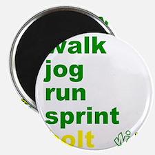 Walk. Jog. Run. Sprint. Bolt. Magnet