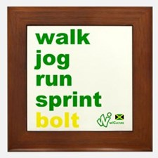 Walk. Jog. Run. Sprint. Bolt. Framed Tile
