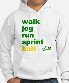 Walk. Jog. Run. Sprint. Bolt. Jumper Hoody