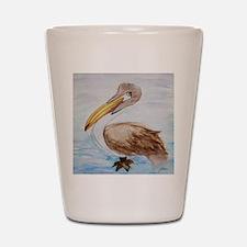 Brown Pelican Shot Glass