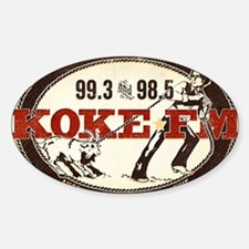 KOKE FM LOGO Decal