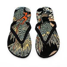 Hokusai Dragon Flip Flops