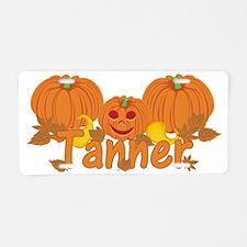Halloween Pumpkin Tanner Aluminum License Plate