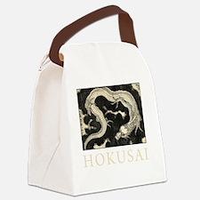 Hokusai Dragon Canvas Lunch Bag