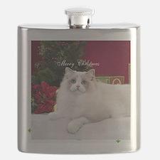Ragdoll Cat Snowflake Ornament Flask