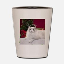 Ragdoll Cat Snowflake Ornament Shot Glass